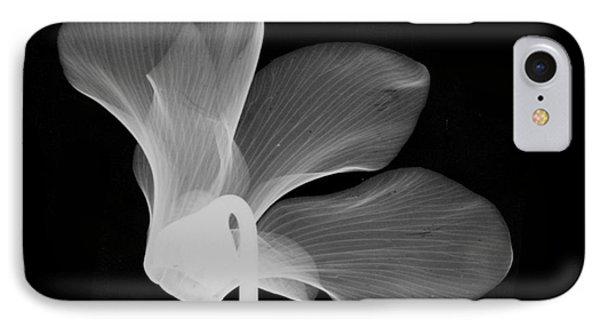 Cyclamen Flower X-ray Phone Case by Bert Myers