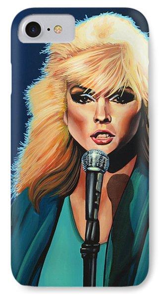 Deborah Harry Or Blondie Painting IPhone Case by Paul Meijering
