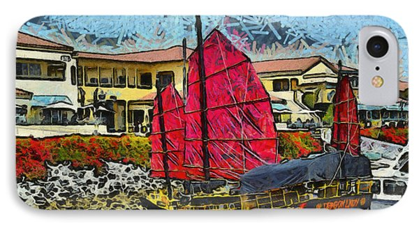Dragon Lady At Venture Harbor IPhone Case by Barbara Snyder