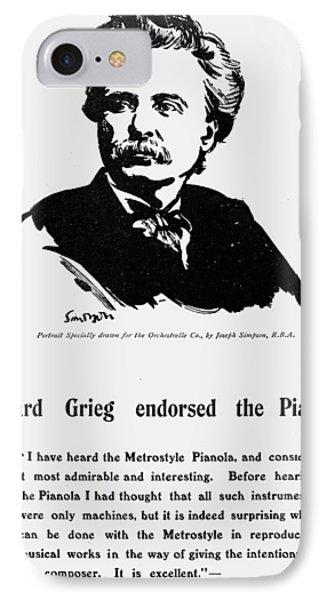 Edvard Grieg (1843-1907) IPhone Case by Granger