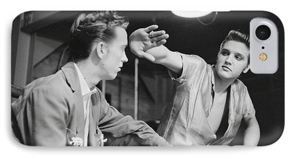 Elvis Presley And His Cousin Gene Smith 1956 IPhone Case by The Phillip Harrington Collection