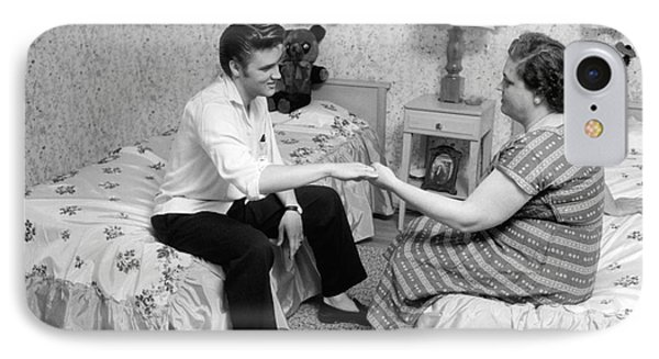 Elvis Presley And His Mother Gladys 1956 IPhone Case by The Phillip Harrington Collection