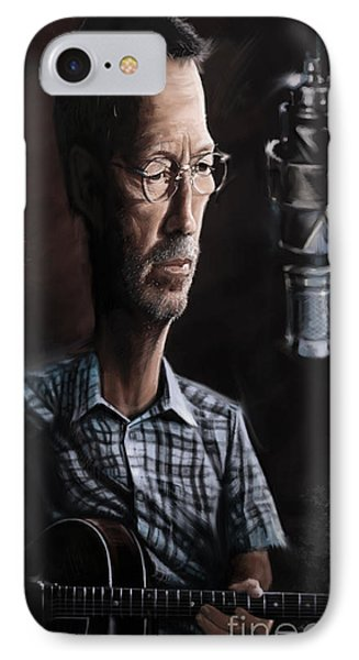 Eric Clapton IPhone Case by Andre Koekemoer