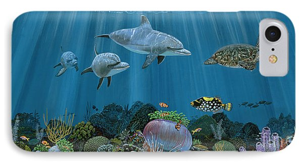 Fantasy Reef Re0020 IPhone Case by Carey Chen