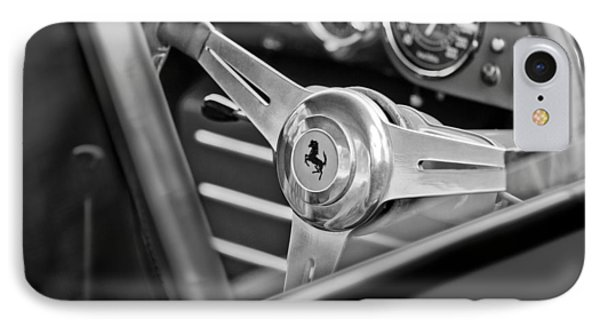 Ferrari Steering Wheel IPhone Case by Jill Reger