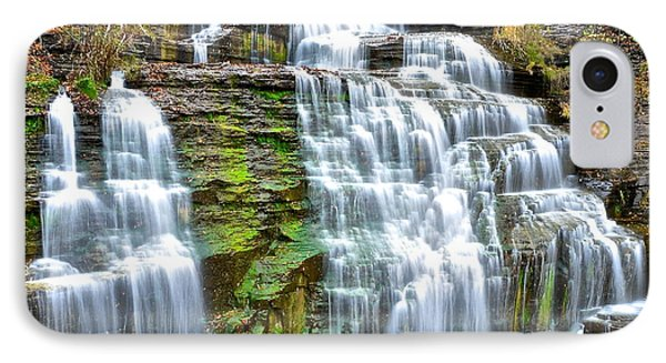 Finger Lakes Waterfall Phone Case by Frozen in Time Fine Art Photography