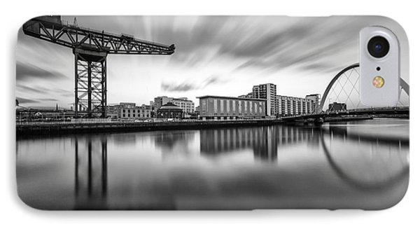 Finnieston Crane Glasgow Phone Case by John Farnan
