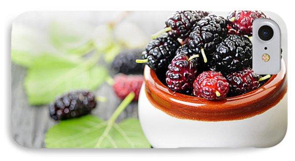 Fresh Mulberries IPhone Case by Elena Elisseeva
