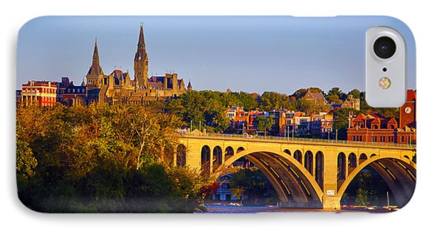 Georgetown IPhone Case by Mitch Cat