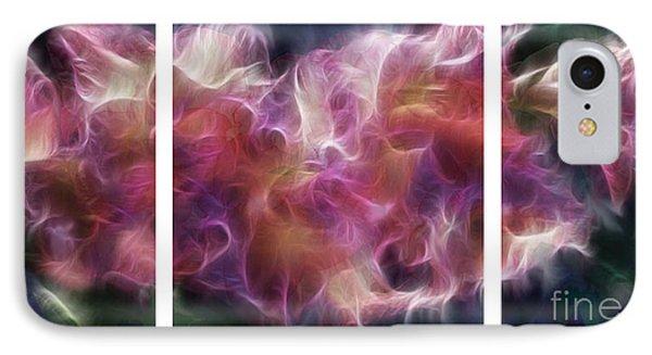 Gladiola Nebula Triptych IPhone Case by Peter Piatt