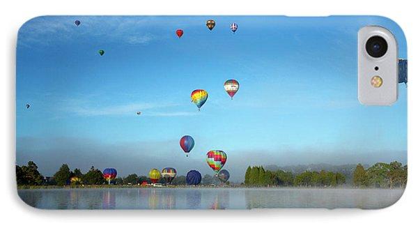 Hot Air Balloons, Balloons Over Waikato IPhone Case by David Wall