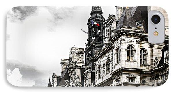 Hotel De Ville In Paris Phone Case by Elena Elisseeva