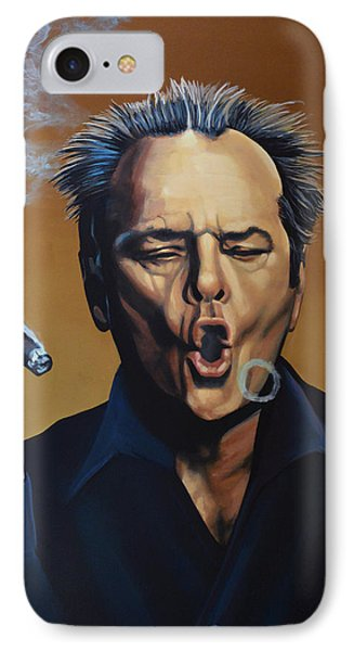 Jack Nicholson Painting IPhone Case by Paul Meijering