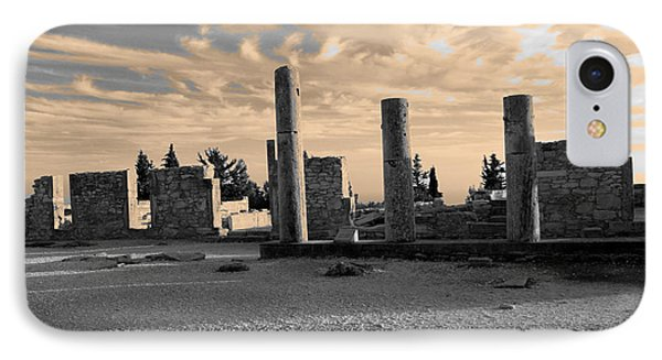 Kourion-temple Of Apollo Phone Case by Augusta Stylianou