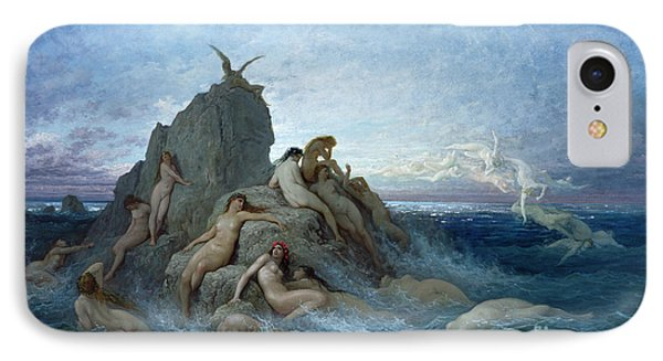 Les Oceanides IPhone Case by Gustave Dore