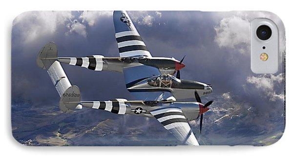 Lockheed P-38 Lightning Phone Case by Larry McManus