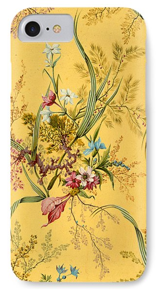 Marble End Paper  IPhone Case by William Kilburn