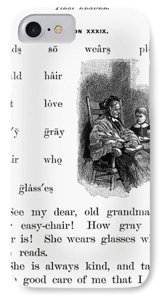 Mcguffey's Reader, 1879 IPhone Case by Granger