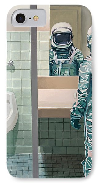 Men's Room IPhone Case by Scott Listfield