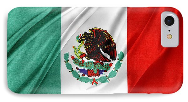 Mexican Flag IPhone Case by Les Cunliffe