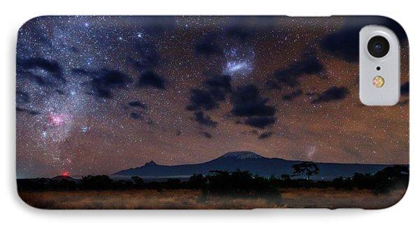 Night Sky Over Mount Kilimanjaro IPhone Case by Babak Tafreshi