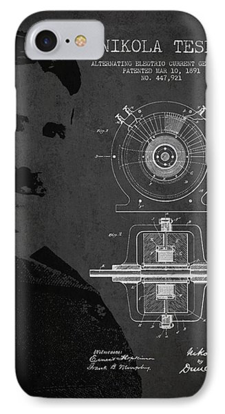 Nikola Tesla Patent From 1891 Phone Case by Aged Pixel