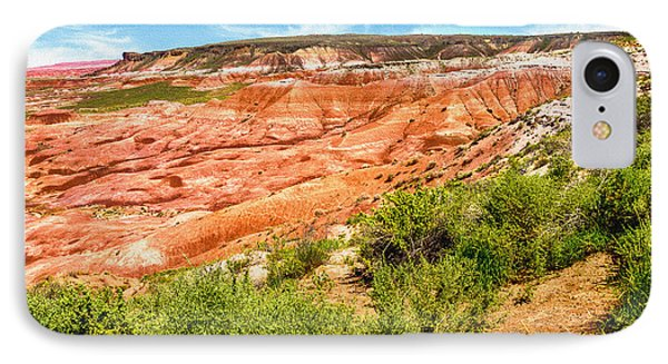 Painted Desert National Park Panorama Phone Case by Bob and Nadine Johnston