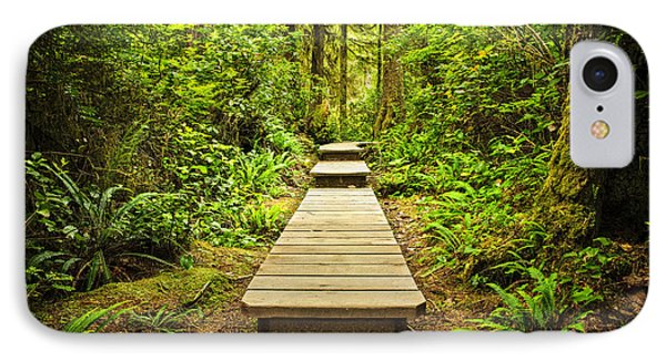 Path In Temperate Rainforest Phone Case by Elena Elisseeva