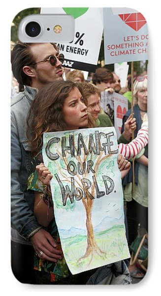 People's Climate March IPhone Case by Victor De Schwanberg