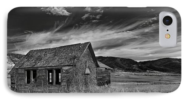 Pioneer Cabin   IPhone Case by Leland D Howard