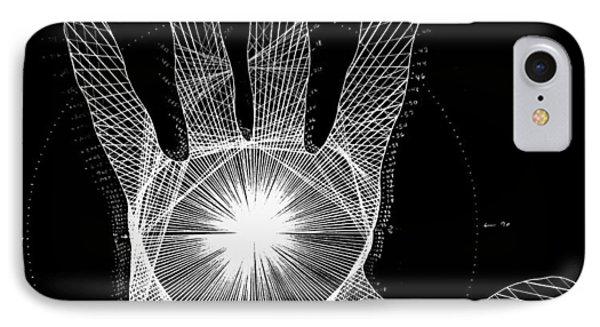 Quantum Hand Through My Eyes IPhone 7 Case by Jason Padgett