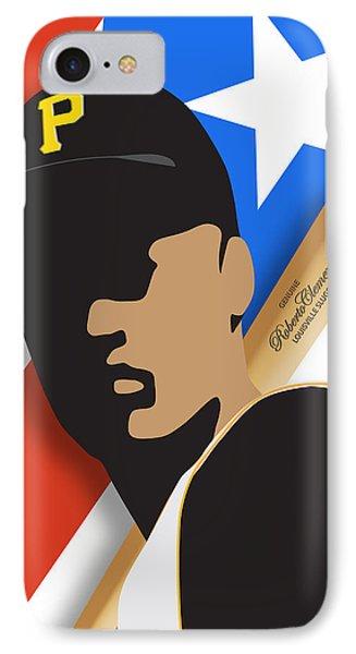 Roberto Clemente IPhone Case by Ron Regalado