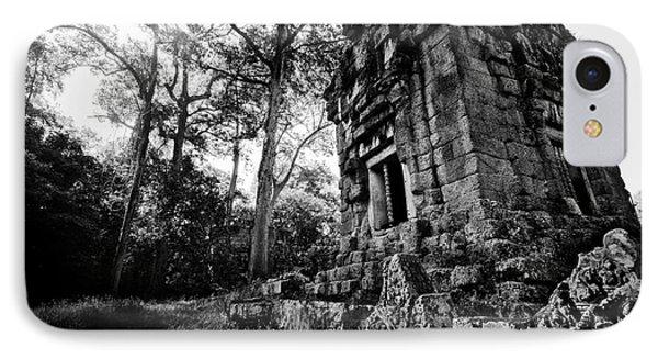 Ruin At Angkor Wat IPhone Case by Julian Cook