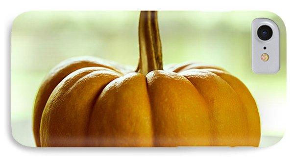Small Orange Pumpkin IPhone Case by Iris Richardson