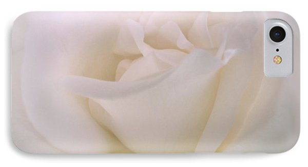 Softness Of A White Rose Flower IPhone Case by Jennie Marie Schell