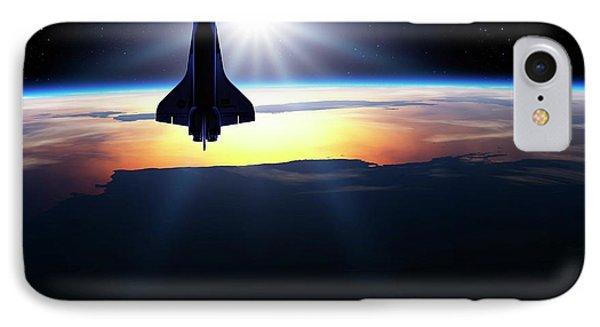 Space Shuttle In Orbit IPhone 7 Case by Detlev Van Ravenswaay