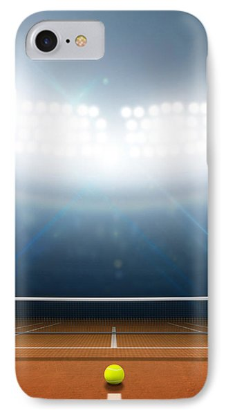 Stadium And Tennis Court IPhone Case by Allan Swart