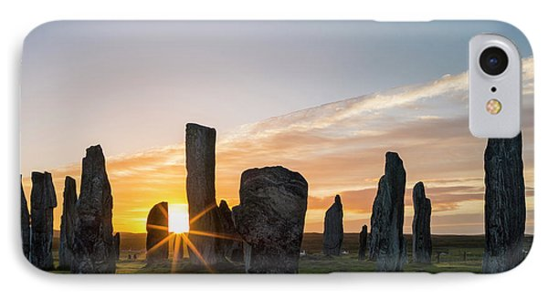 Standing Stones Of Callanish IPhone Case by Martin Zwick