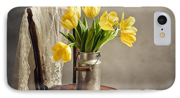 Still Life With Yellow Tulips IPhone Case by Nailia Schwarz