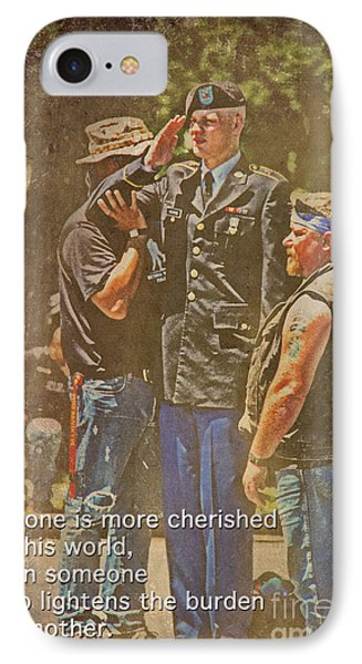Support Our Troops IPhone Case by Tom Gari Gallery-Three-Photography