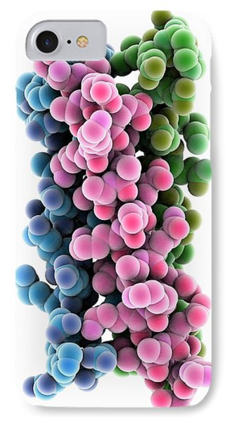 Synthetic Triple Helical Peptide Molecule IPhone Case by Laguna Design