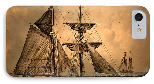 Tall Ships IPhone Case by Dale Kincaid