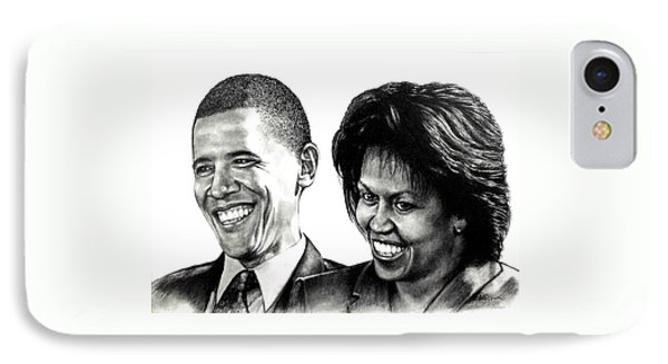 The Obama's IPhone Case by Todd Spaur