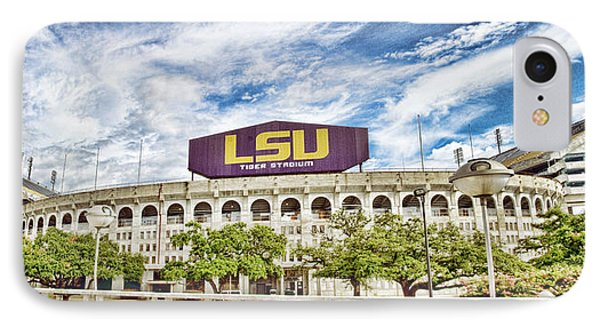 Tiger Stadium Panorama IPhone Case by Scott Pellegrin