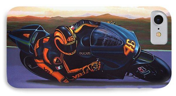 Valentino Rossi On Ducati IPhone Case by Paul Meijering