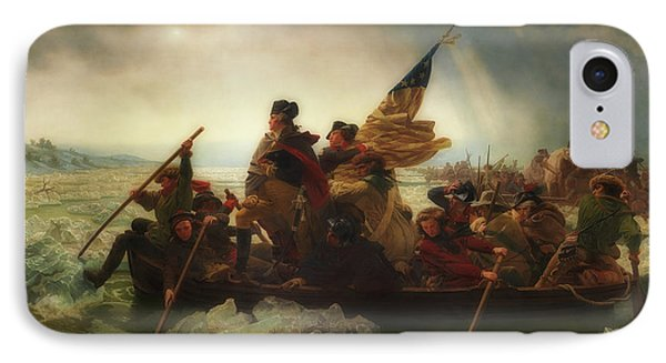 Washington Crossing The Delaware  IPhone Case by Emanuel Leutze