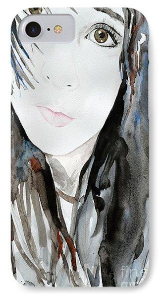 Young Girl Phone Case by Ismeta Gruenwald