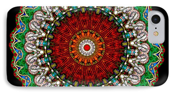 Kaleidoscope Stained Glass Window Series Phone Case by Amy Cicconi