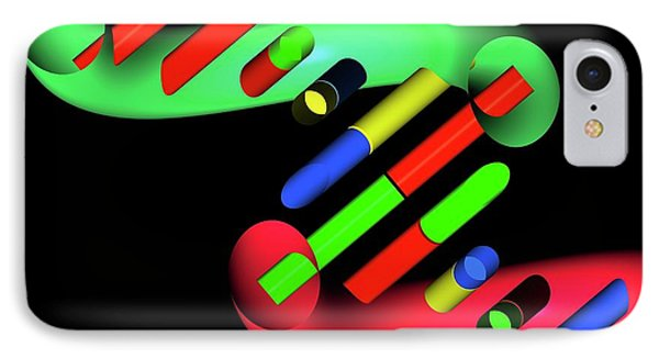 Dna Molecule IPhone Case by Russell Kightley