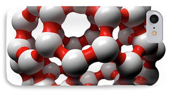 Buckminsterfullerene Molecule IPhone Case by Russell Kightley